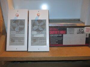2 radiateurs muraux chauffants