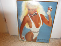 FRAMED PICTURES OF **2** VERY HEALTHY ***LADY WEIGHT TRAINERS***