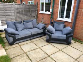 Dino luxury 3 +1 sofa grey
