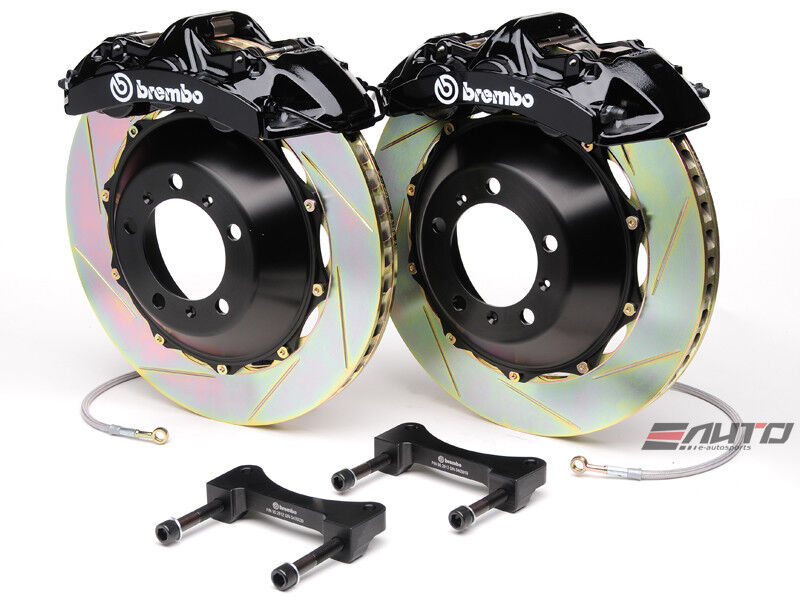 Brembo Front Gt Bbk Brake 6pot Caliper Black 365x34 Slot Rotor Wrangle Jk 07-13