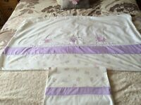 Girls pretty cot bed duvet cover and pillow case