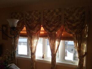 Super ensembles de rideau/Great curtains ensemble (Low price)