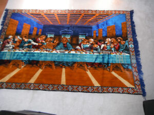 Vintage 6' Last Supper Jesus Tapestry Or Rug Very Good condition