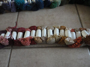 Lot of 65 rolls of carpeting yarn precut assorted colours London Ontario image 2