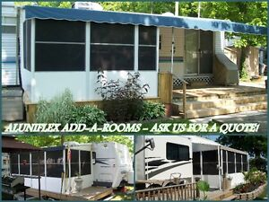 Aluminum structured Add-A-Room for Roll-Up Awnings Windsor Region Ontario image 2