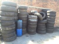 TYRES ONLY - PART WORN TYRES 13's 14's 15's ALL LEGAL PART WORNS