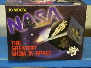 NASA 25 Years: The Greatest Show In Space Collection - VHS set
