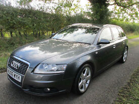 2006 AUDI A6 2.0 TDI DIESEL S-LINE AVANT ESTATE GREY WITH SAT NAV AND BOSE