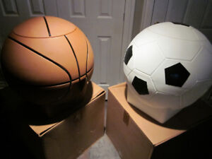 Basketball and Soccer Large Toy box - Brand new in box