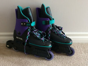 Like New! Ladies Roller Blades & Carry Bag