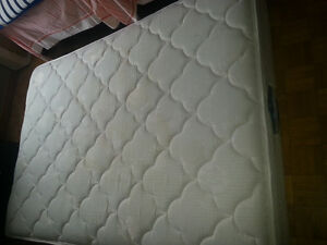 Double size mattress and box spring.