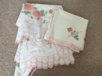 Collection of table covers & napkins material & lace