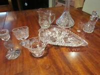 Vaisselle de service en crystal
