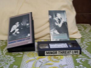 (ATTENTION! LOOK) MINOR THREAT LIVE VHS FOR SALE HARDCORE PUNK