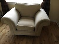 Sofa with two matching chairs