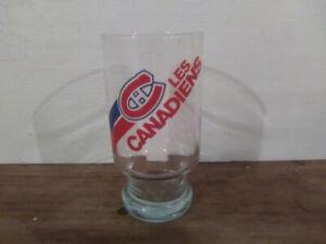 Verre rétro Les Canadiens NHL Habs hockey Montréal tricolore 80s