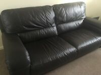 Leather couch and armchair