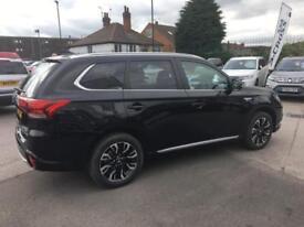 2017 Mitsubishi Outlander PHEV 4H PETROL/ELECTRIC black CVT