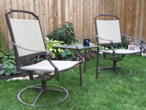 Patio Deck Chairs & Table For Sale
