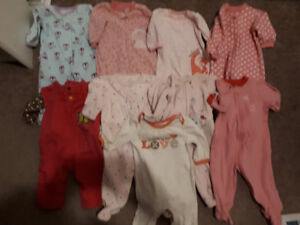 3-6 month old baby girls clothing lot. 42 items