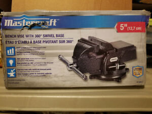 "Mastecraft 5"" Bench Vise With Swivel Base"