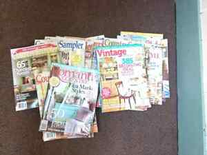 Country sampler type magazines