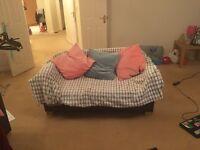 1 comfy sofa bed £30