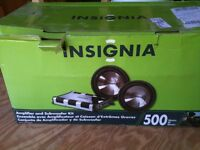 Insignia amp and sub kit brand new