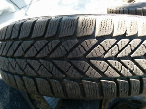 4 Like new Goodyear winter tires 205/60R16 with 95% tread ice