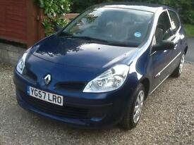 2007 57 Renault Clio 1.2 16v 75 Expression 66,000 miles