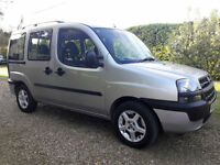 Fiat Doblo1.9JTD ELX 2003 5 speed service history from new air con alloys towbar