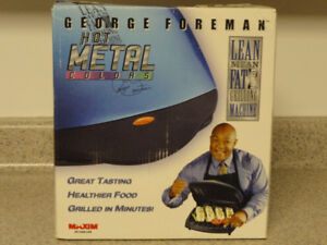 NEW!    GEORGE FOREMAN LEAN MEAN GRILLING MACHINE