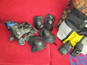 roller blades,knee,elbow and wrist pads (REDUCED)