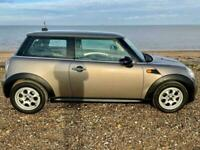 Mini 1.6 One 3dr Auto with Full Black Leather, FSH, 2012, Silver, Cheap Tax