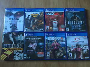 Ps4 games all for $100 or swap for xbox1 games