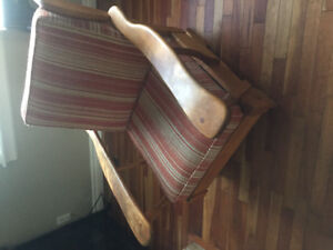 Retro Fixed base Rocking Chair