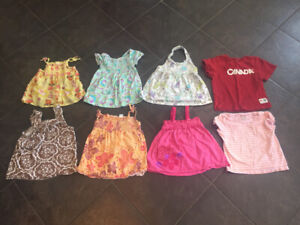 Girls size 2 t-shirts and tanks