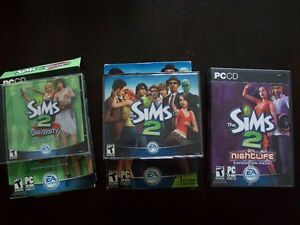 "Jeu PC ""The Sims 2"" +extension university +extension Nightlife"