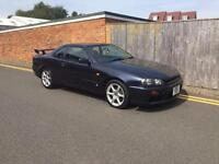 NISSAN SKYLINE R34 GT TURBO AUTOMATIC 1998 PRIVATE PLATE 138K