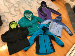Size 10/12 Rain Jackets and Winter Jackets