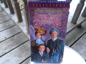 VHS tape of Butch Cassidy and the Sundance Kid