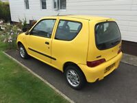 FIAT SEICENTO SPORTING, 2001. NEEDS NEW WATER PUMP. £500