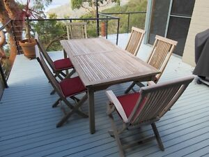 Teak Deck Table and Chairs Bayview Pittwater Area Preview