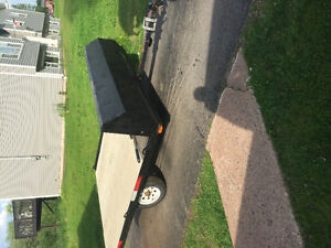 2006 double wide snowmobile trailer