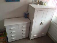 Nursery drawers and wardrobe