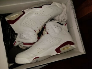 selling DEADSTOCK 100% authentic air jordan maroon 6 in size 11.