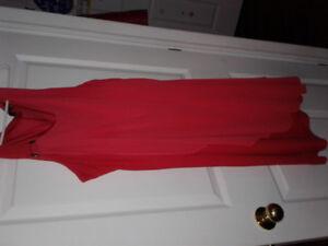 XXL Tangarine Chiffon Dress