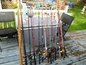 Huge Lot Fishing Rods and Reels 20 plus
