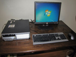 HP DualCore Small Form Factor Computer System running Windows 7