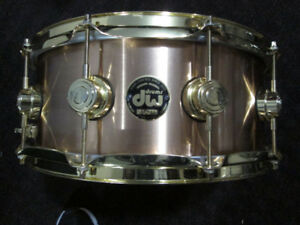 DW. Black Badge Collectors Series, Thick, Heavy Brass Snare drum
